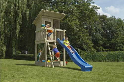 Douglas speeltoestel Beach Hut - 150 cm - Limoengroen