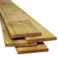 Grenen geschaafde plank 1,5 x 14,0 x 300 cm, groen ge#mpregneerd. Planken