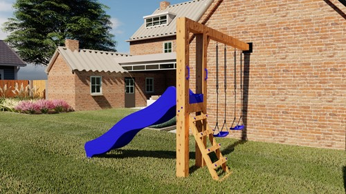 Douglas Schommel   Woody - 350 cm - Blauw onbehandeld